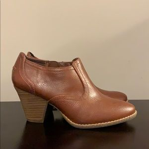 "Dr. Scholl's brown ""leather"" bootie"
